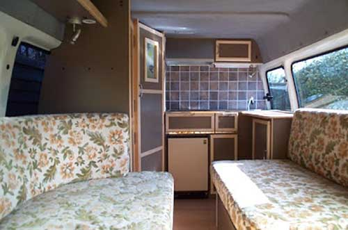 diy campervan interior