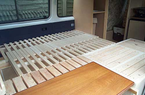 bed - campervan interior - diy campervan