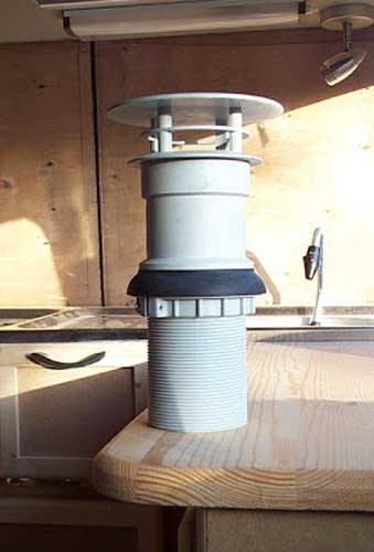 chimney - diy campervan
