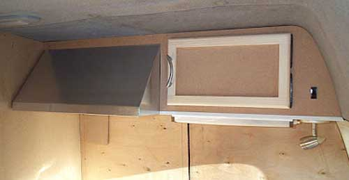cooker hood - diy campervan
