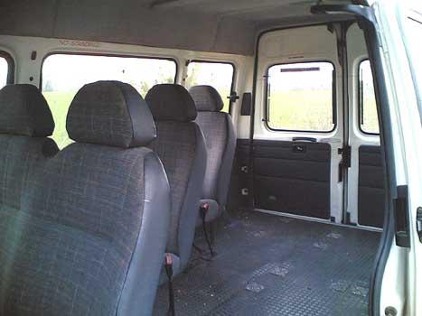 ford transit minibus inside