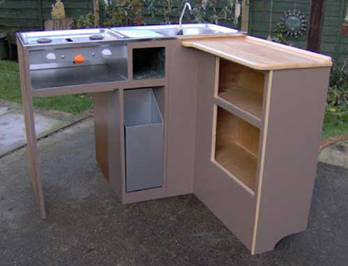 kitchen unit - diy campervan