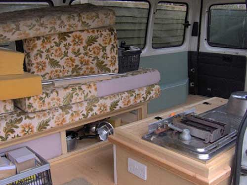 in progress - diy campervan