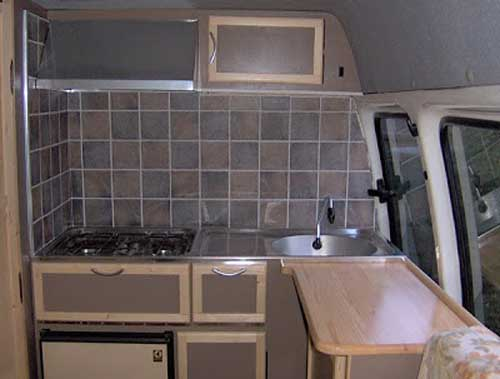 kitchen tiles - diy campervan conversion