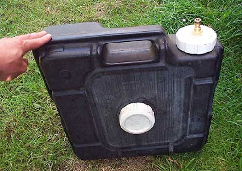 diy campervan waste water container