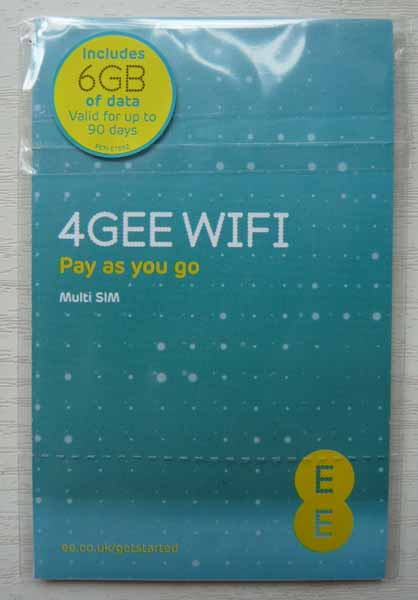 4GEE 6Gb data sim