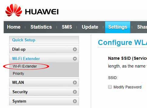 Huawei E5577C Wi-Fi Extender