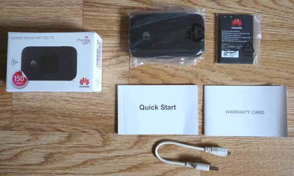 Huawei E5577C mifi box content