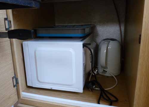 campervan microwave storage