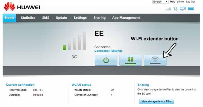 wifi extender button